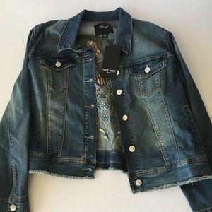 Nine West floral jean jacket